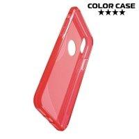 Силиконовый чехол для iPhone Xs / X - S-образный Красный