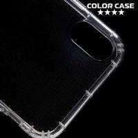 Силиконовый чехол для iPhone Xs / X противоударный - Прозрачный