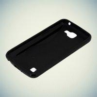 Силиконовый чехол для LG K4 K130E - S-образный Черный