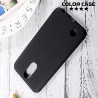 Пластиковый чехол для LG K10 2017 M250 - Матовый Черный