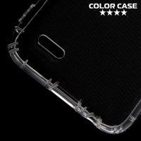 Силиконовый чехол для LG K10 2017 M250 противоударный - Прозрачный