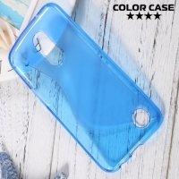 Силиконовый чехол для LG K10 2017 M250 - S-образный Синий
