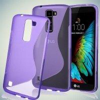 Силиконовый чехол для LG K10 K410 - S-образный Фиолетовый