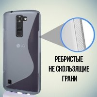 Силиконовый чехол для LG K7 X210ds - S-образный Серый