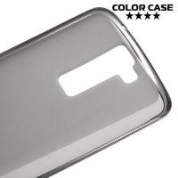 Силиконовый чехол для LG K8 K350E - Матовый Серый