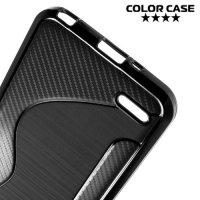 Силиконовый чехол для LG Q6 M700AN / Q6a M700 - S-образный Черный