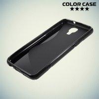 Силиконовый чехол для LG X view - S-образный Черный
