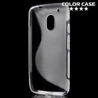 Силиконовый чехол для Motorola Moto G4 Play - S-образный Серый