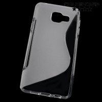 Силиконовый чехол для Samsung Galaxy A3 2016 SM-A310F - S-образный Прозрачный