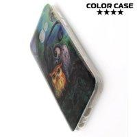 Силиконовый чехол для Samsung Galaxy A3 2017 SM-A320F - с рисунком Совята