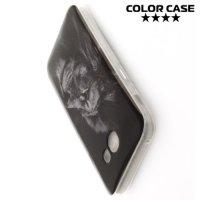 Силиконовый чехол для Samsung Galaxy A3 2017 SM-A320F - с рисунком Лев
