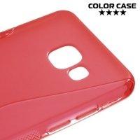 Силиконовый чехол для Samsung Galaxy A5 2016 SM-A510F - S-образный Красный