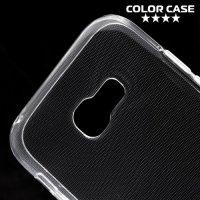 Глянцевый силиконовый чехол для Samsung Galaxy A5 2017 SM-A520F - Прозрачный