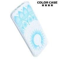 Силиконовый чехол для Samsung Galaxy A5 2017 SM-A520F - с рисунком Цветочные узоры