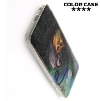 Силиконовый чехол для Samsung Galaxy A7 2017 SM-A720F - с рисунком Совята