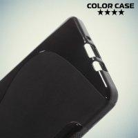 Силиконовый чехол для Samsung Galaxy A7 - S-образный Черный