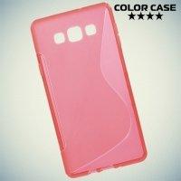 Силиконовый чехол для Samsung Galaxy A7 - S-образный Красный