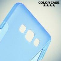 Силиконовый чехол для Samsung Galaxy A7 - S-образный Синий