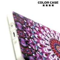 Силиконовый чехол для Samsung Galaxy A7 - с рисунком Фиолетовый узор