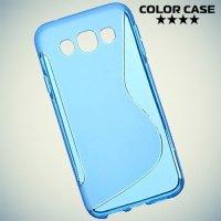 Силиконовый чехол для Samsung Galaxy E5 - S-образный Синий