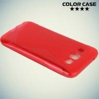 Силиконовый чехол для Samsung Galaxy E5 - S-образный Красный