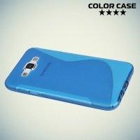 Силиконовый чехол для Samsung Galaxy E7 - S-образный Синий