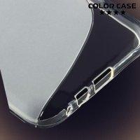 Силиконовый чехол для Samsung Galaxy E7 - S-образный Прозрачный