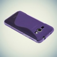 Силиконовый чехол для Samsung Galaxy J1 2016 SM-J120F - S-образный Фиолетовый
