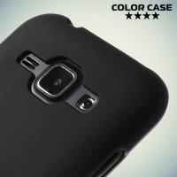 Силиконовый чехол для Samsung Galaxy J1 - Матовый Черный