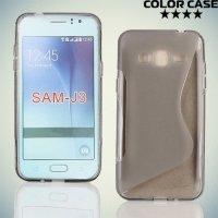 Силиконовый чехол для Samsung Galaxy J3 2016 SM-J320F - S-образный Серый