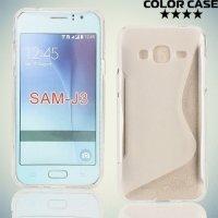 Силиконовый чехол для Samsung Galaxy J3 2016 SM-J320F - S-образный Прозрачный