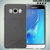 Силиконовый чехол для Samsung Galaxy J7 2016 SM-J710F - S-образный Серый