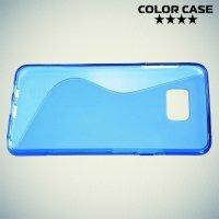 Силиконовый чехол для Samsung Galaxy Note 5 - S-образный Синий