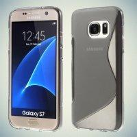 Силиконовый чехол для Samsung Galaxy S7 - S-образный Серый