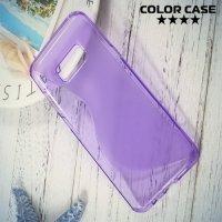 Силиконовый чехол для Samsung Galaxy S8 Plus - S-образный Фиолетовый