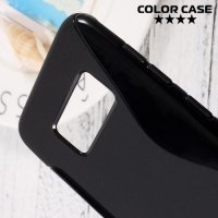 Силиконовый чехол для Samsung Galaxy S8 - S-образный Черный