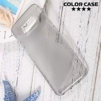 Силиконовый чехол для Samsung Galaxy S8 - S-образный Серый