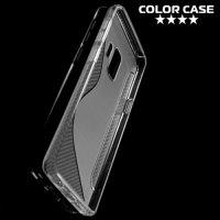 Силиконовый чехол для Samsung Galaxy S9 - S-образный Прозрачный