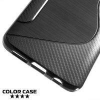 Силиконовый чехол для Samsung Galaxy S9 - S-образный Черный
