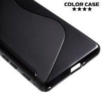 Силиконовый чехол для Sony Xperia X Performance - S-образный Черный