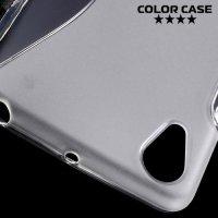 Силиконовый чехол для Sony Xperia X Performance - S-образный Прозрачный