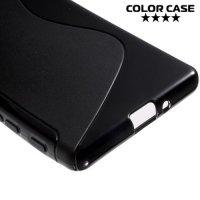 Силиконовый чехол для Sony Xperia X - S-образный Черный