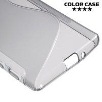 Силиконовый чехол для Sony Xperia X - S-образный Серый