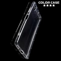 Силиконовый чехол для Sony Xperia XA1 Plus противоударный - Прозрачный