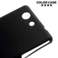Силиконовый чехол для Sony Xperia Z3 Compact D5803 - Матовый Черный