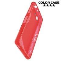 Силиконовый чехол для Sony Xperia Z3 Compact D5803 - S-образный Красный