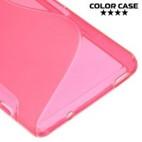 Силиконовый чехол для Sony Xperia Z3 Compact D5803 - S-образный Розовый