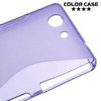 Силиконовый чехол для Sony Xperia Z3 Compact D5803 - S-образный Фиолетовый