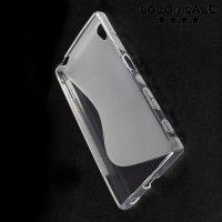 Силиконовый чехол для Sony Xperia Z5 - S-образный Прозрачный