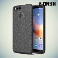 Силиконовый чехол под кожу для Huawei Honor 7X - Черный